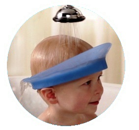 Big kid can learn to wash their own hair with kair bath visor